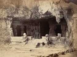 Elephanta - The East Wing of the Great Temple
